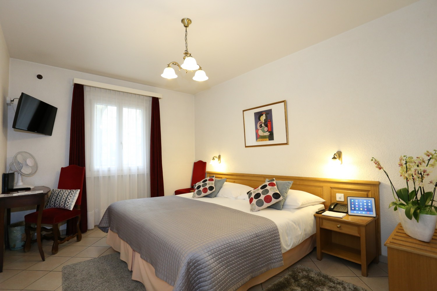 chambres chambre twin c t cour hotel gen ve h tel